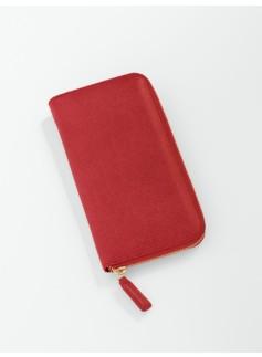Leather Side-Zip Wallet