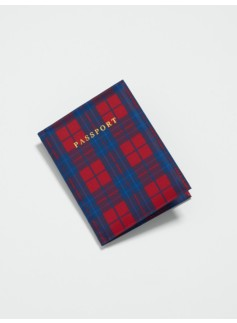 Plaid Passport Case