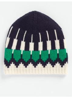 Colorblocked Nordic Fair Isle Hat