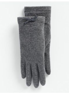 Bow-Trimmed Touch Gloves
