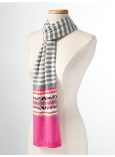 Fair Isle & Stripes Scarf