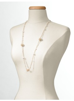 Long Pav� Fireball Necklace