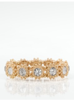 Crystal Flower Stretch Bracelet