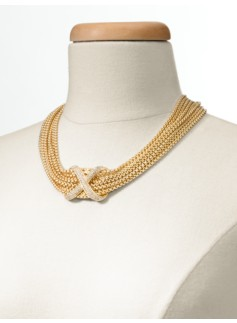 Chain Link & Pav� Necklace