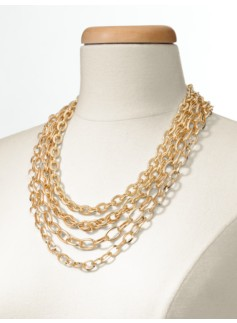 Four-Row Mixed-Chain Necklace
