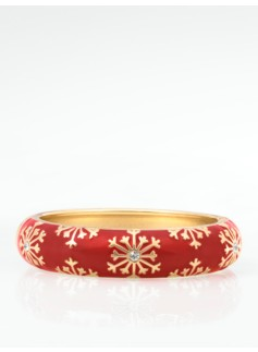 Snowflake Enamel Bangle