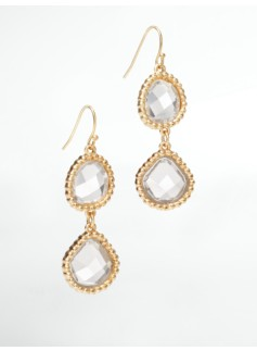 Faceted Crystal Drop Earrings
