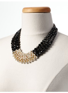 Bead & Crystal Necklace