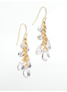 Faceted Bead & Crystal Drop Earrings