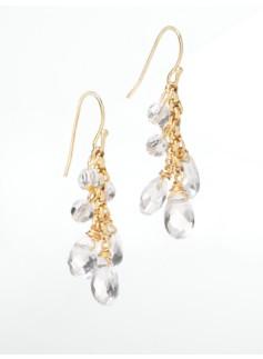 Faceted Bead & Crystal Drop Earrings