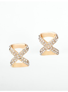 Pav� Crisscross Earrings