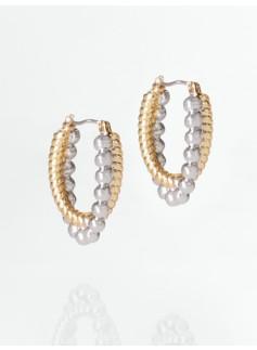 Bead Rope-Chain Drop Earrings