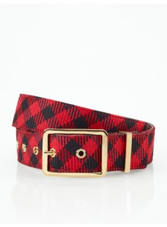 Buffalo Plaid Flannel Belt