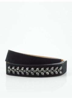 Embellished Suede Belt