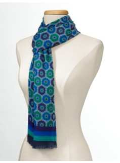 Medallions & Stripes Scarf
