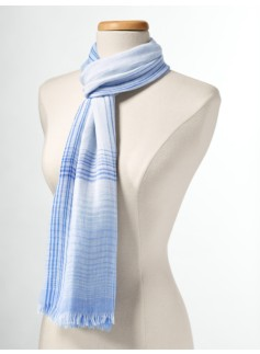 Ombre Plaid Scarf