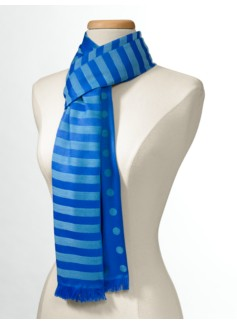 Polka Dots & Stripes Scarf