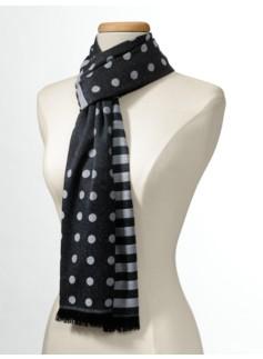 Polka Dots & Stripes Scarf