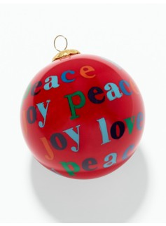 Love, Peace & Joy Ornament