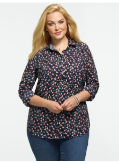 Robin-Print Cotton Shirt