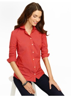 Resort-Stripe Cotton Shirt