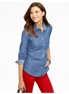 Pindot Denim Shirt
