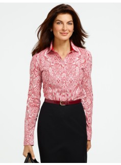 Wrinkle Resistant Etched Paisley Shirt