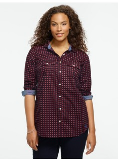 Dot Foulard Print Cotton Shirt