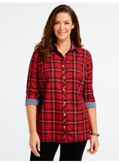Sparkle Kerikeri Plaid Cotton Shirt