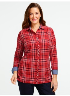 Nelson Plaid Cotton Shirt