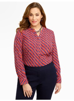 Diagonal-Dots Blouse