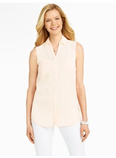 Talbots Nantucket Sleeveless Ivory Shirt