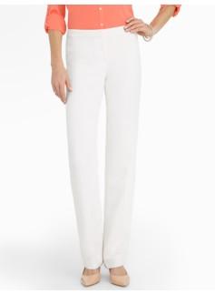 Signature Seasonless Crepe Ivory Straight-Leg Pants