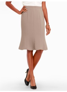 Seasonless Crepe Trumpet Skirt