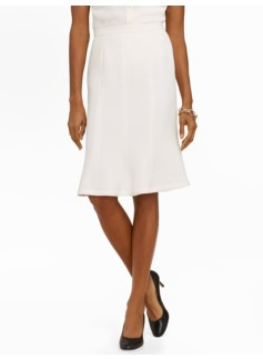 Seasonless Crepe Ivory Trumpet Skirt