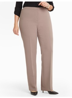 Heritage Seasonless Crepe Straight-Leg Pants