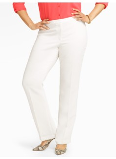 Heritage Seasonless Crepe Ivory Straight-Leg Pants