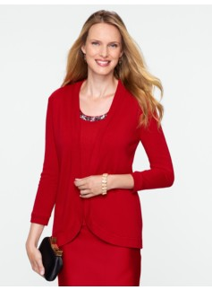 Silk Cashmere No-Close Cardigan