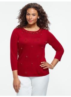 Jeweled Merino Sweater