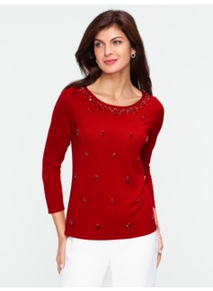 Jeweled Merino Sweater
