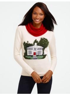 Intarsia Talbots Cashmere Sweater
