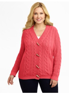 Cable Toggle Cardigan