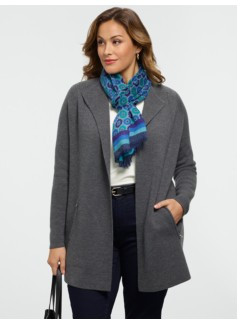 Merino Wing-Collar Cardigan