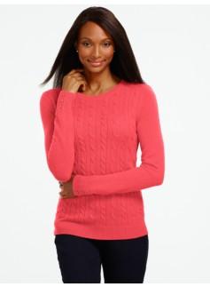 Cable Button-Cuff Sweater