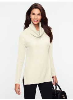 Textured Cowlneck Sweater