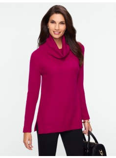 Textured Cowlneck Sweater