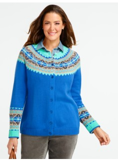 Diamond Fair Isle Cardigan