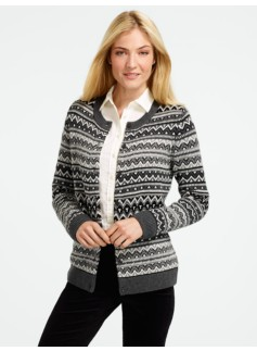 Beaded Stripe Fair Isle Cardigan