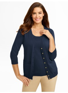 Kelly Gold-Button Cardigan