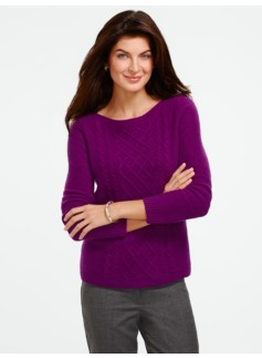 Center-Cable Bateau Sweater